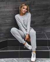 jumpsuit,grey,cashmere in style