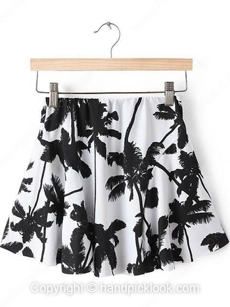 skirt skater skater skirt black and white white skirt black skirt white skater skirt palm tree print