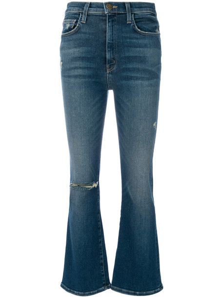 jeans high women spandex cotton blue