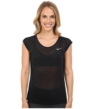 t-shirt nike top activewear black t-shirt