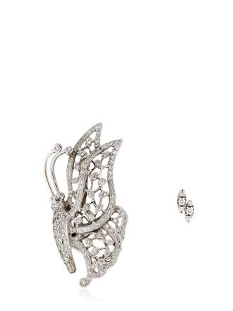 butterfly earrings white jewels