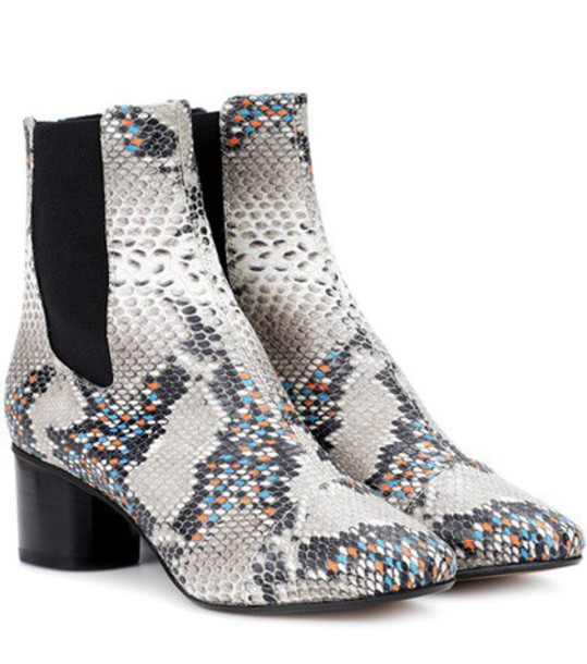 Isabel Marant leather ankle boots ankle boots leather beige shoes
