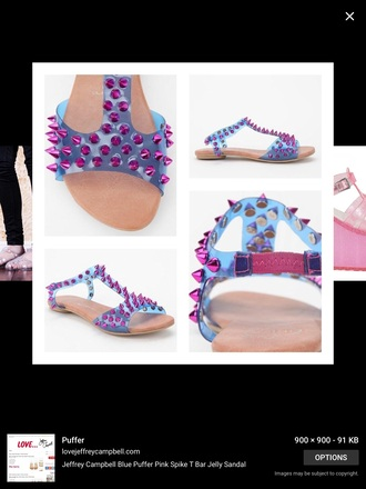shoes sandals jellies jellyshoes spikes