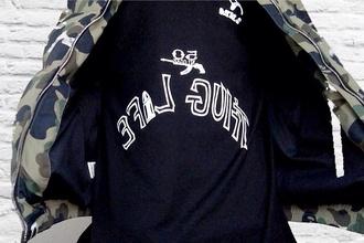 sweater tupac thug life black black hoodie hoodie sweatshirt