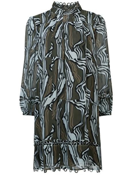 Apiece Apart dress printed dress high women silk green