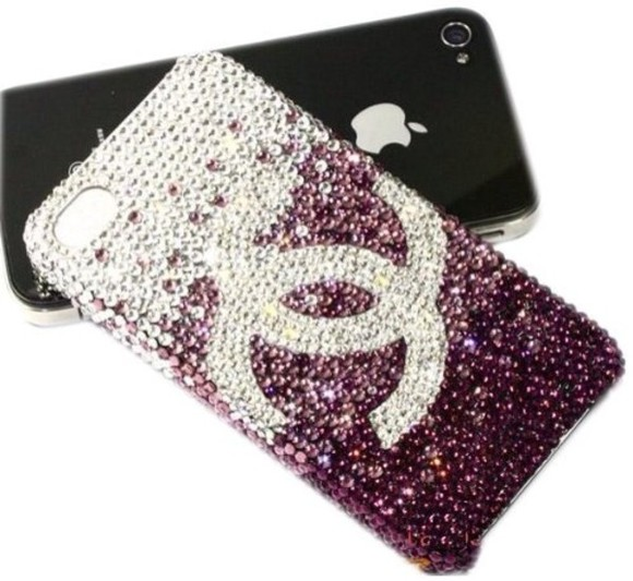 diamond swarovski jewels chanel iphone 5 case iphone