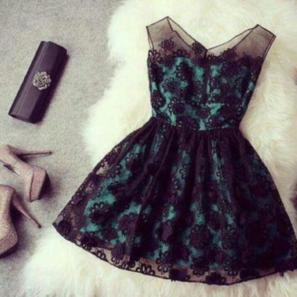 Dress Green Dress Black Dress Prom Dress Wedding Guest