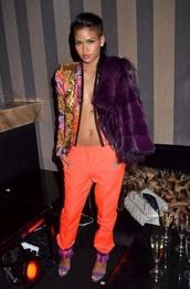 jacket,colourfull purple orange urban