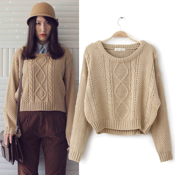 Retro knit sweater · nekori · asia style!