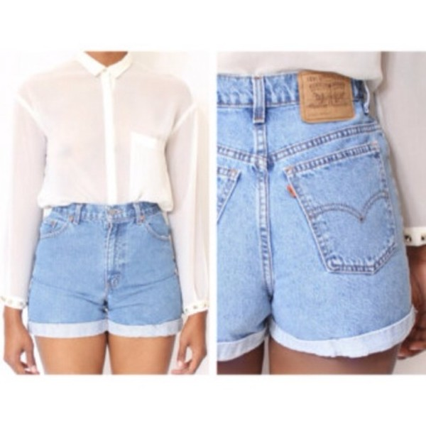 shorts denim High waisted shorts