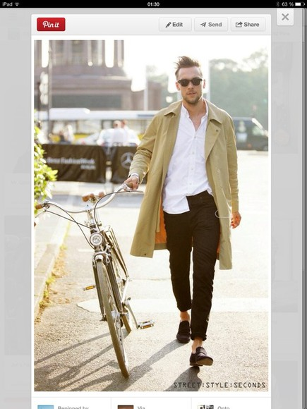 yellow trench coat coat jacket mens wear men's clothes mens jacket fall spring beige trenchcoat