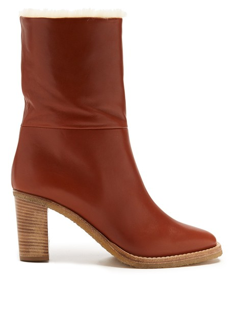Gabriela Hearst leather ankle boots ankle boots leather tan shoes