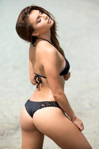 swimwear bikini bottoms black cheeky crochet frankies frankies bikini bikiniluxe