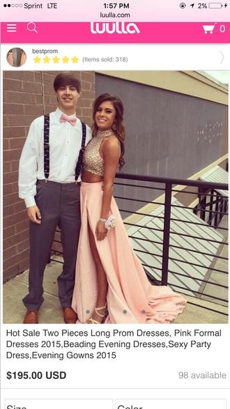 dress prom dress peach dress