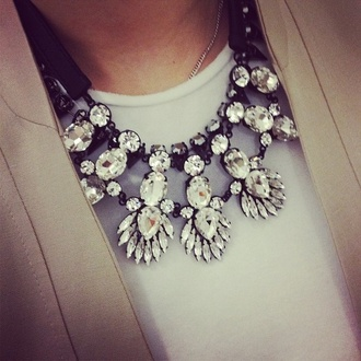 jewels necklace statement necklace rhinestone