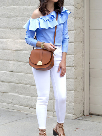 cost with me blogger top jeans shoes bag