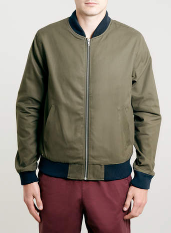 COTTON BOMBER JACKET - Men's Coats & Jackets - Clothing - TOPMAN
