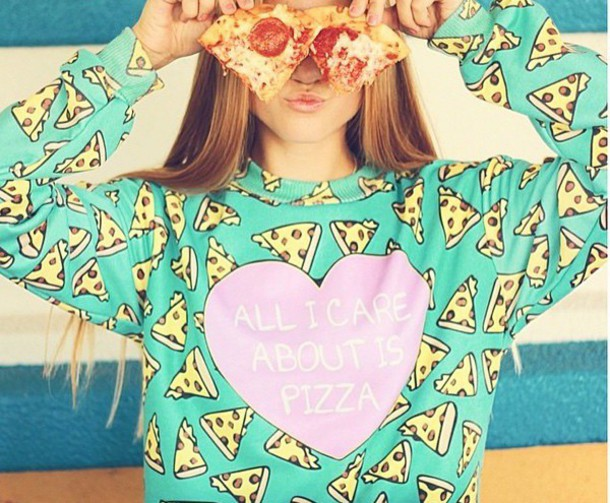 sweater tumblr sweater pizza pizza sweatshirt