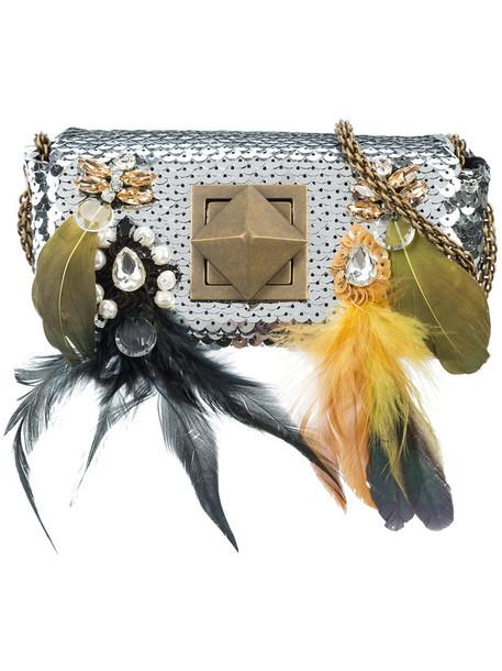 Sonia Rykiel mini women bag mini bag cotton grey metallic