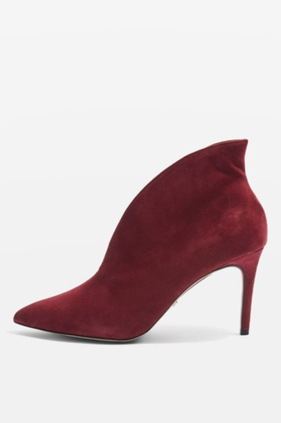 Topshop suede boots suede burgundy shoes