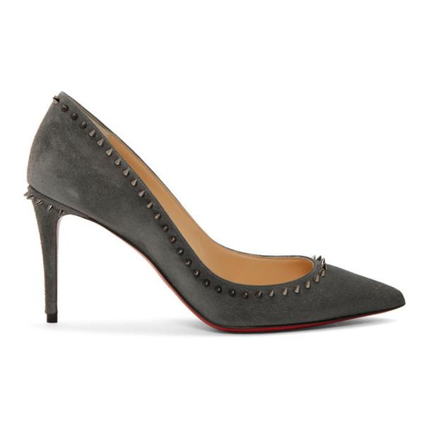 Louboutin Grey Suede Anjalina Heels