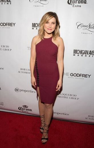 dress sophia bush sandals burgundy shoes
