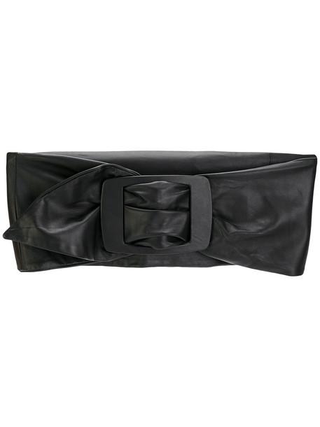 Erika Cavallini women belt waist belt leather black