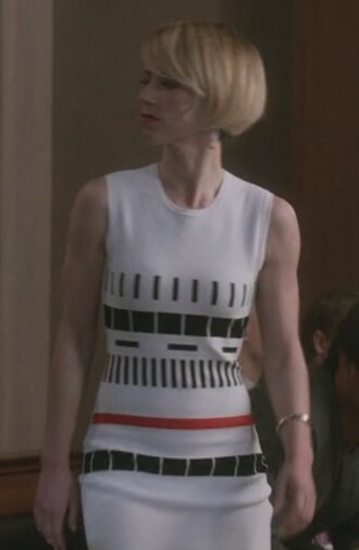 dress revenge white karine vanasse margaux lemarchal sleeveless reversible