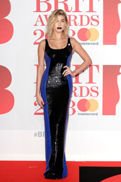 dress,hailey baldwin,model off-duty,gown,prom dress,sequins,sequin dress,brit awards