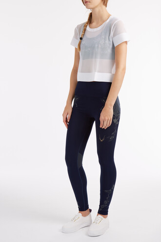 leggings knit navy pants