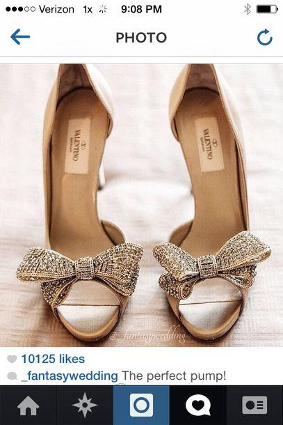 e91e30a2af7 shoes designer sho sparkle heels wedding shoes metallic shoes bows high heels  Valentino peep toe pumps