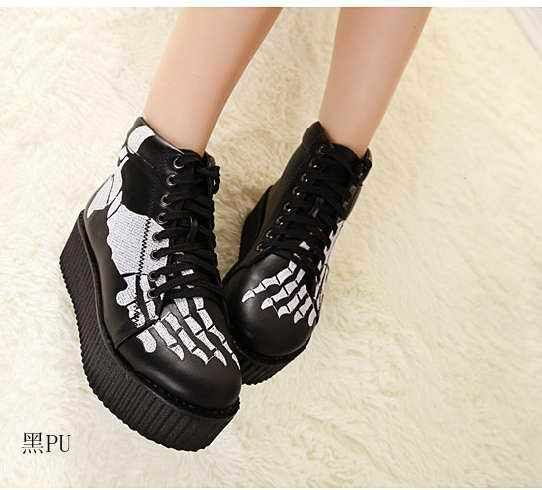 2013 Womens Block Heels Chunky Platform Goth Lace Up Lady's Combat Ankle Boots B | eBay