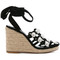 Alexander wang - taylor wedge sandals - women - leather/suede - 39, black, leather/suede
