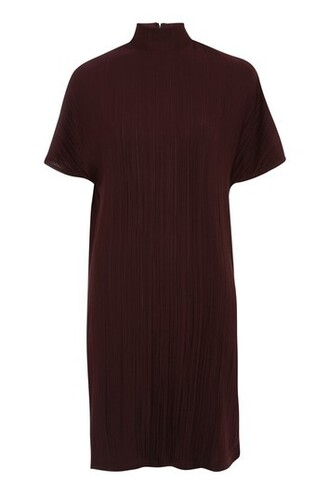 dress shift dress burgundy