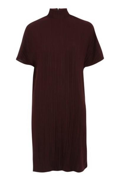 Topshop dress shift dress burgundy