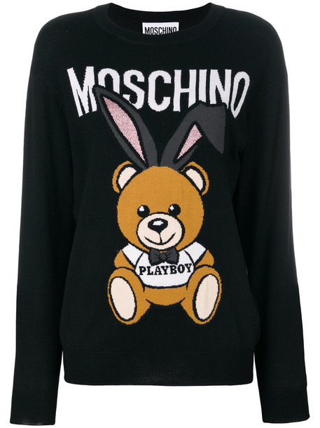 Moschino sweater bear women black wool