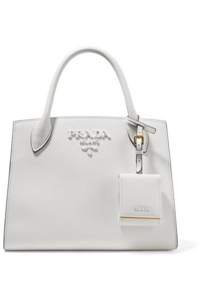 Prada leather white bag