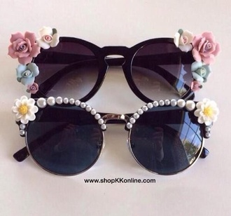 sunglasses flowers toms roses
