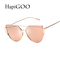 Aliexpress.com : buy hapigoo new women cat eye sunglasses fashion women brand designer twin beams coating mirror sun glasses female sunglasses uv400 from reliable glasses lg suppliers on hapigoo eyewear