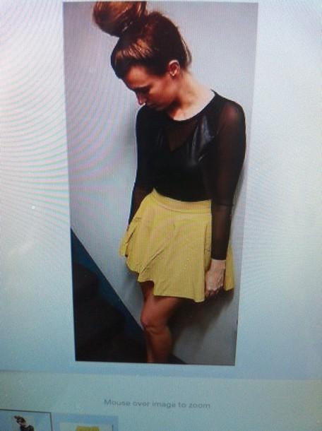 skirt leather leather skirt green skirt yellow skirt skater skirt
