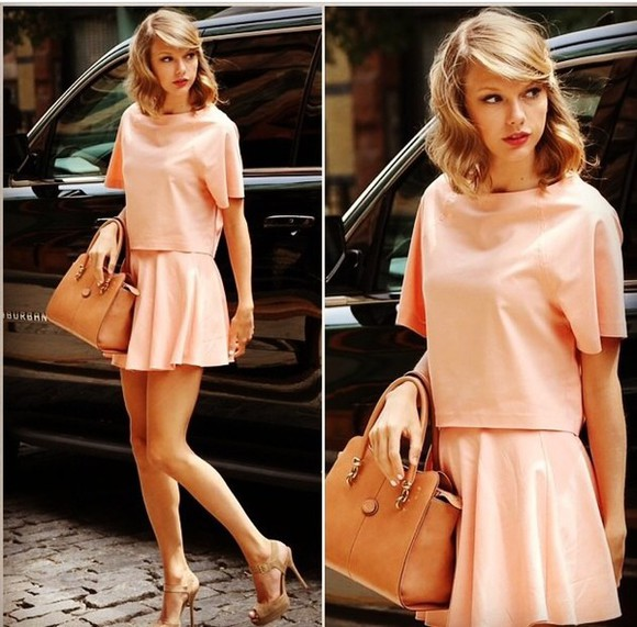taylor swift skirt shoes bag purse fashion blouse