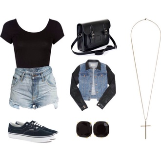 jacket pants shorts shprt sleeve jeans short sleeve shirt earrings necklace bag purse shoes converse