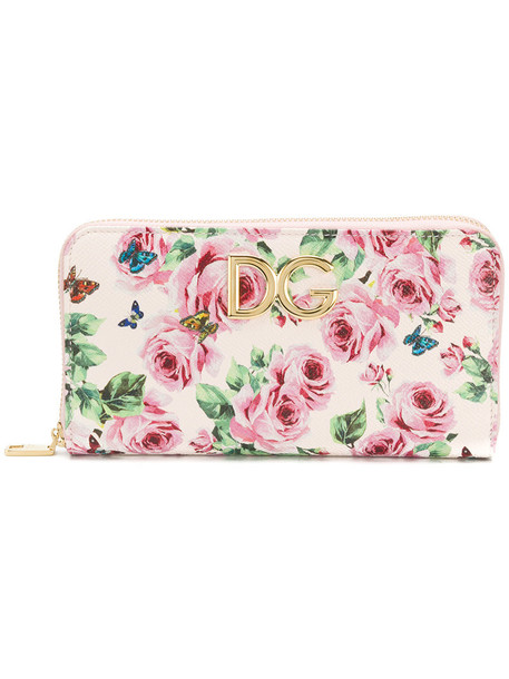 rose women purse leather print bag