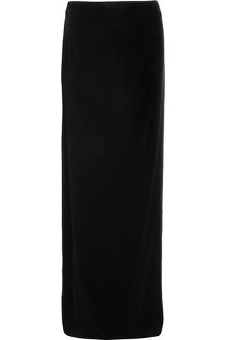 skirt maxi skirt maxi black velvet