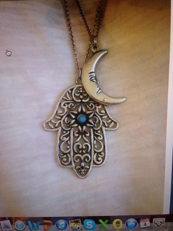 jewels hasma hasma hand moon necklace turkish
