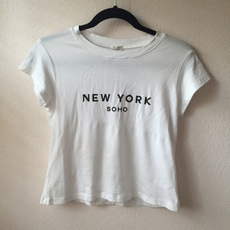 shirt soho new york city soft white top