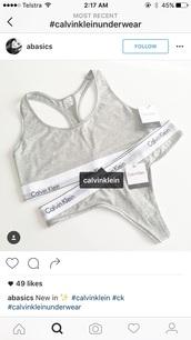 underwear,calvin klein underwear,grey,lingerie set