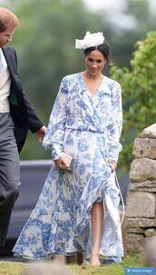 dress,wrap dress,oversized,meghan markle,spring outfits,spring dress,maxi dress,hat