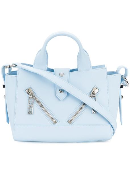Kenzo mini women bag shoulder bag leather cotton blue