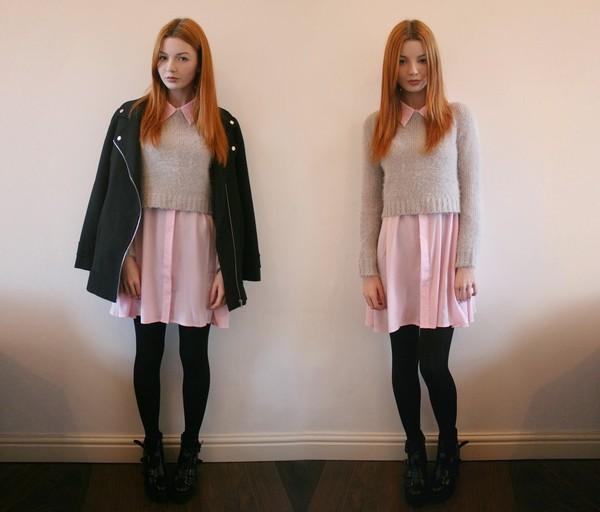 hannah louise fashion shirt dress sweater coat shoes